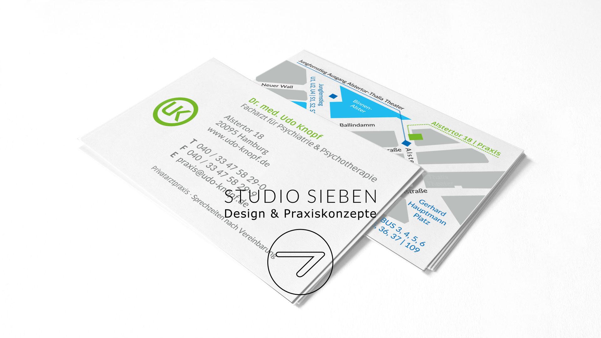 Praxis Uk Psychiater Hamburg Visitenkarten Arzt Studio 7