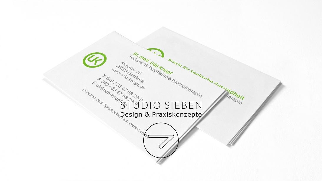 Praxis Uk Visitenkarten Arzt Psychologe Hamburg Studio 7