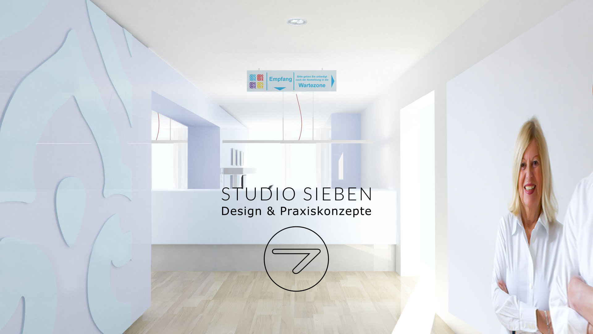 Praxiskonzept & Praxiseinrichtung für ein Hausarztzentrum in Duisburg (Inneneinrichtung, Druckerzeugnisse, Beschilderung)